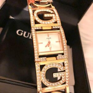 Guess Gold Watch with Swarovski Crystals